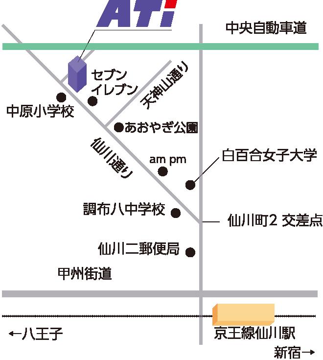 本社周辺の地図