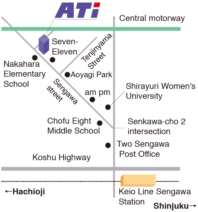 Map around the head office
